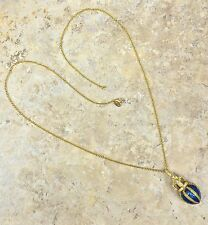 """FERN FINDS PERAL AND CZ """"CROWN"""" PENDANT AND 32"""" GOLDTONE CHAIN NECKLACE HSN"""