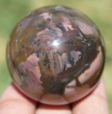 40mm 3OZ Natural Colorful Picture Agate Crystal Sphere Ball