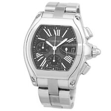 CARTIER Stainless Steel Roadster XL Chronograph Automatic Box Warranty MINTY