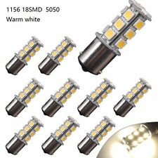 10X Warm White 1156 BA15S / 1141 / 1073 / 1095 Base 18 SMD 5050 LED Replacement