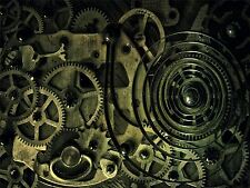PHOTOGRAPHY COMPOSITION COG CLOCK MECHANISM SPRING COIL ART PRINT POSTER MP3368A