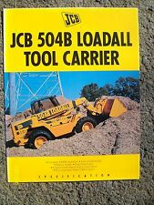 Original Vintage 1996? JCB 504B Loadall Tool Carrier Flyer Tri-fold