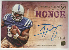 DWAYNE ALLEN Colts 2012 Topps Valor Autograph #VA-DA SP RC ON CARD AUTO #38/50