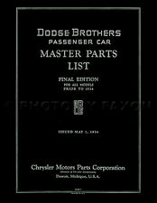 Dodge Parts Book 1926 1925 1924 1923 1922 1921 1920 1919 1918 1917 1916 Catalog