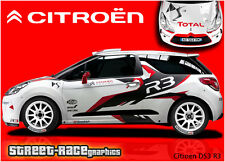 Citroen DS3 R3 full rally graphics stickers decals