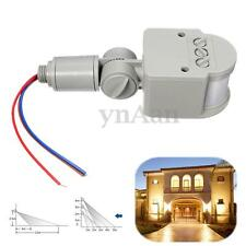 LED AC 110V~240V Infrarrojo PIR Movimiento Sensor Detector Luz Interruptor 180°