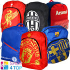 FOOTBALL SOCCER CLUB TEAM BACKPACK SCHOOL BAG TRAVEL RUCKSACK OFFICIAL LICENSED