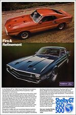 24x36 1969 Ford Mustang Shelby Cobra GT 500 350 BIG Ad Poster Art 69 Carroll 428