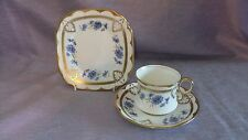 Vintage Royal Albert Crown China  Cornflower Trio tea cup, saucer and plate