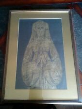 """Brass Rubbings Of Young Girl 13 Years Of Age Named """"Laurie"""" at Westminster Abbey"""