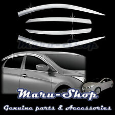Chrome Door Window Vent Visor Deflector for 11~ Hyundai i40 Saloon 4DR