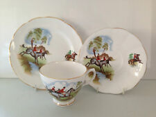 DORCHESTER FINE BONE CHINA HORSE HUNTING SCENE TRIO CUP SAUCER & SIDE PLATE
