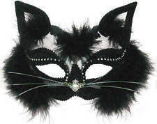 Transparente Black Cat Mascarilla Masquerade Ball Fancy Dress