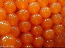 8mm Rare Orange South America Topaz Loose Bead 15""