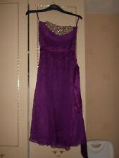 Monsoon: Stunning Designer Silk Dress: Purple: Strapless: Lined: Size 10:BNWOT