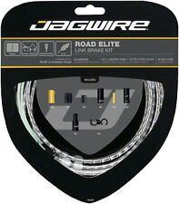 Jagwire Road Elite Link Brake Cable Kit SRAM/Shimano, Ultra-Slick Cables, Silver