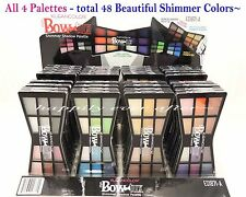 4 PCs Kleancolor Eye Shadow Palettes - 48 Shimmer Color Shadows *US SELLER*