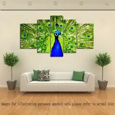 Not Framed Home Decor HD Canvas Print Animal Green Peacock Wall Art Picture