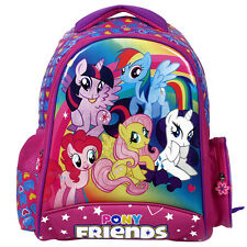 "My Little Pony Friends Backpacks Girl Kid Cartoon School Bag Gift 16"" Rucksack"