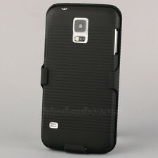 For Samsung Galaxy S5 SV i9600 Holster Belt Clip Rubberized Holder Case Cover