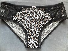 Victoria's Secret SMALL *BODY BY VICTORIA* HIPHUGGER *Black & Brown Leopard*