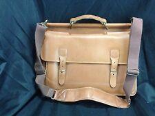 L.L.BEAN USA Vintage Leather Professor & Scholar Attache Briefcase Bag Mens
