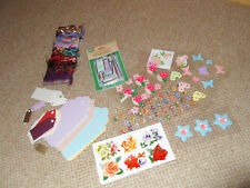 job lot of embellishments, tags  & stickers-ideal for card making / scrapbooking