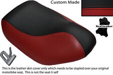 BLACK & DARK RED CUSTOM FITS HYOSUNG SF 50 FRONT LEATHER SEAT COVER