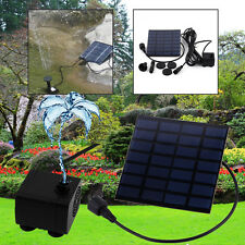 Solar Water Pump Power Panel Kit Fountain Garden Pool Pond Plants Watering IT