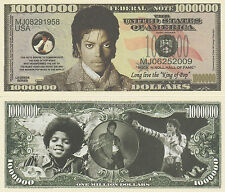 Michael Jackson Million Dollar Collectible Funny Money Novelty Note