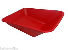 RED WHEEL BARROW REPLACEMENT PLASTIC BODY 85 LITRE NO HOLES MADE IN UK