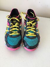 Asics ladies size 7.5 multi colored athletic shoes