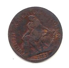 1781 North American Token (AM-5A1)--Dark Chocolate with Strong Details  !!