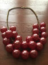 Vintage 30s 40s 50s Necklace Deep Cherry Red Balls Celluloid Style