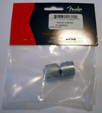 NEW Genuine Fender Dome Knobs - Telecaster Tele Chrome Guitar