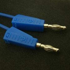 4mm Stackable Banana Test Lead 500mm Blue