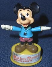 Vntg Disney Vintage Mickey Mouse Push Puppet, Gabriel, 1977