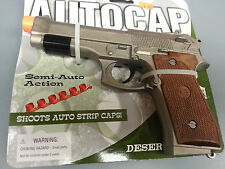 AUTO CAP TOY CAP GUN PISTOL DESSERT WITH ORANGE TIP LENGTH 8""