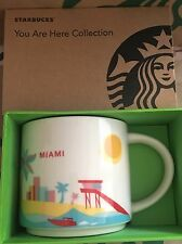 Starbucks Coffee Mug MIAMI FLORIDA You Are Here Collection 2015 NWT Stained Box