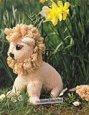 LION 25cm height / 8ply or DK - COPY  toy knitting pattern