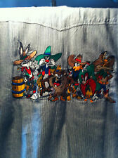 NEW ACME CLOTHING BLOUSE WITH EMBROIDERED LOONEY TUNES' CHARACTERS SIZE XL