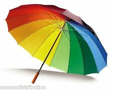 Gran Brillante Multi Colores Rainbow Golf Umbrella-Unisex Sombrilla