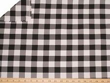 """Checkered Fabric 60"""" Wide By The Yard Gingham Checked 3 COLORS USA SELLER SALE"""