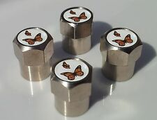 BUTTERFLY ALLUMINIUM TYRE VALVE CAPS FOR TIRE WHEEL
