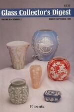 Glass Collector's Digest Aug/Sep '89,, Jadite,, vaseline, Phoenix, Consolidated