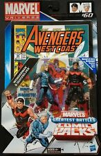 "QUICKSILVER & WONDERMAN ( 4"" ) MARVEL UNIVERSE (AVENGERS) ACTION FIGURES & COMIC"