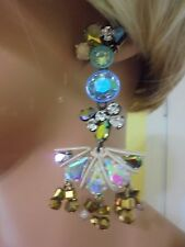 $110 AUTHENTIC J CREW CRYSTAL BEADED CHANDELIER EARRING NWT
