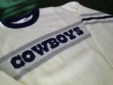 DALLAS COWBOYS BRAND NEW SWEATERS NFL SIZE LG. BY CLIFF ENGLE (VINTAGE LAST ONE)