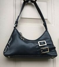 Baby Phat Purse Womens Black Faux Leather Hobo Bag