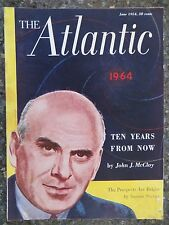 The Atlantic Magazine June 1954 John J McCloy Cover  VINTAGE ADS Horsepower Race